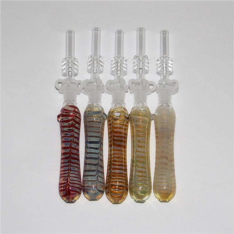 Verre Nectar Collector Mini Pipes eau avec GR2 titane clou de 10 mm en verre Concentré Dab verre paille Oil Pipe rig d'accessoires Rigs