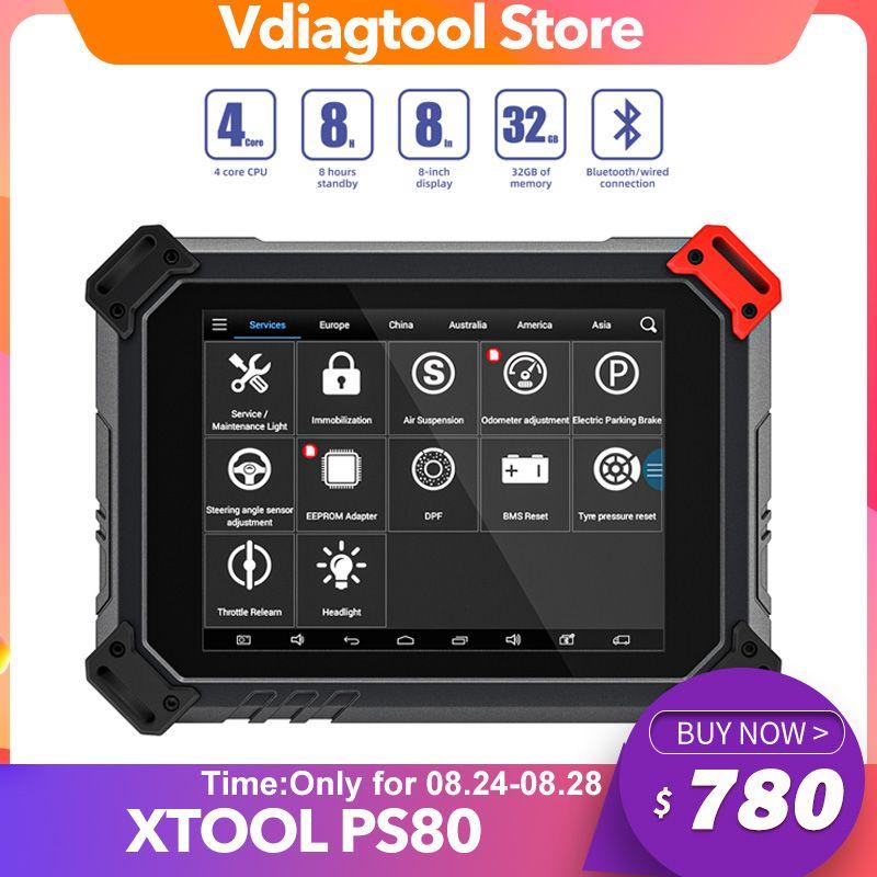 Xtool PS80 Professionelles OBD2 Automotive Full System Diagnostic Tool ECU Codierung PS 80 Kostenlose Updates online