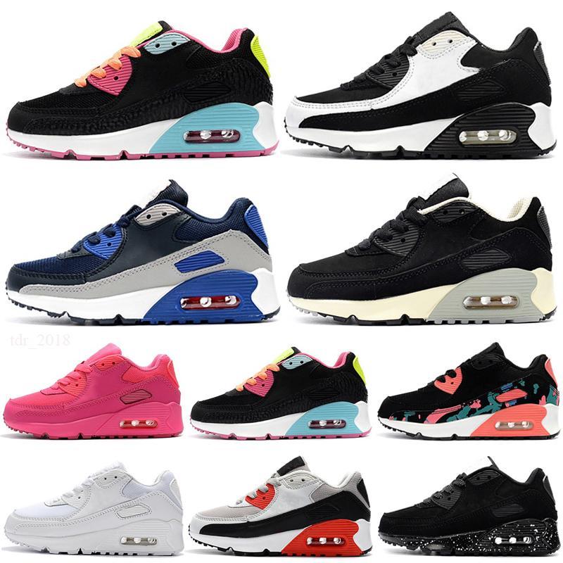 max 90 Çocuk Atletik Ayakkabı Presto 90 II Çocuklar Koşu ayakkabıları Siyah beyaz Bebek Bebek Sneaker 90 Çocuk spor ayakkabı kız erkek Gençlik Eğitmen