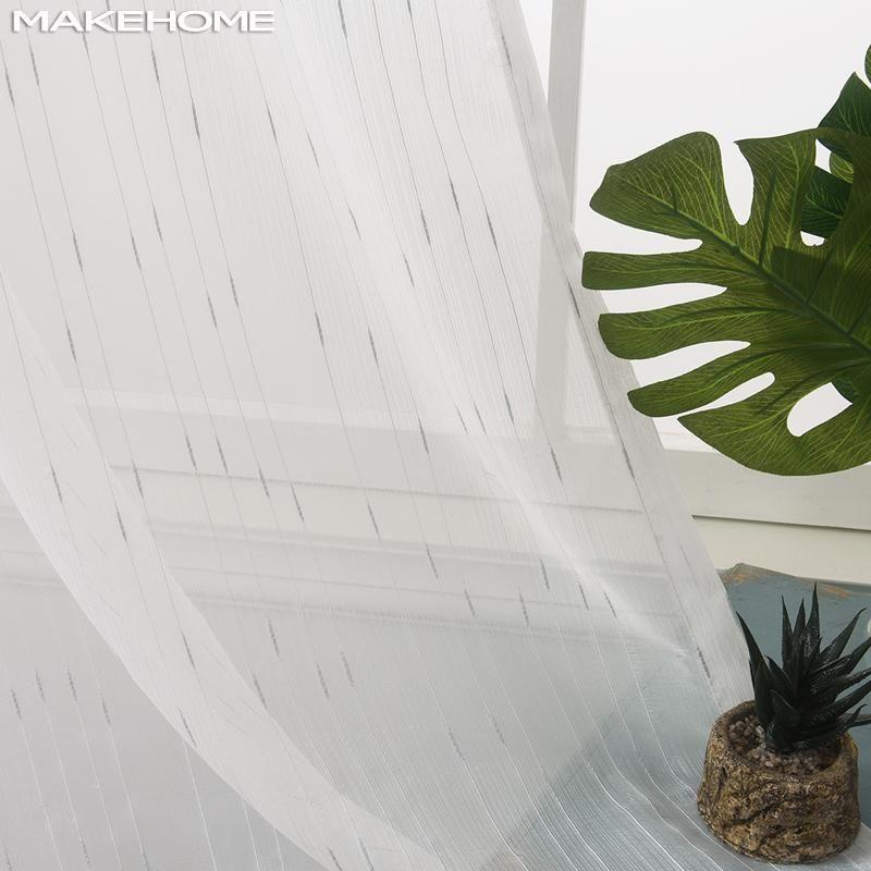 Makehome Silver / Gold Небольшой дождь вышитые прозрачные тюль шторы для детской спальни гостиной жалюзи окно современный занавес Drape1