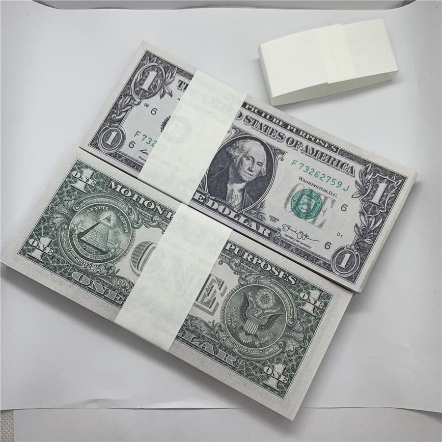 Juguete nuevos accesorios moneda dólar estadounidense nosotros fábrica papel copia marca moneda 3a papel moneda ventas directo irwvv