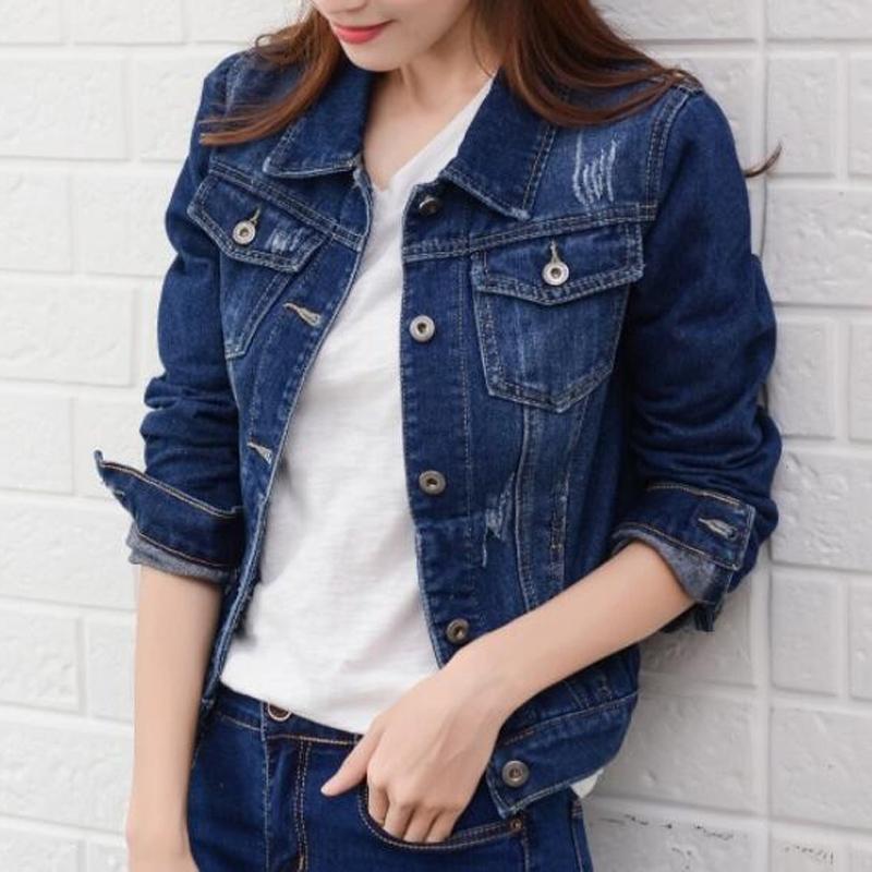 Весна короткие джинсовые куртки женские джинсы пальто корейской моды конфеты цвета тонкий куртки Ковбой Стиль Основные Эпикировка 201015