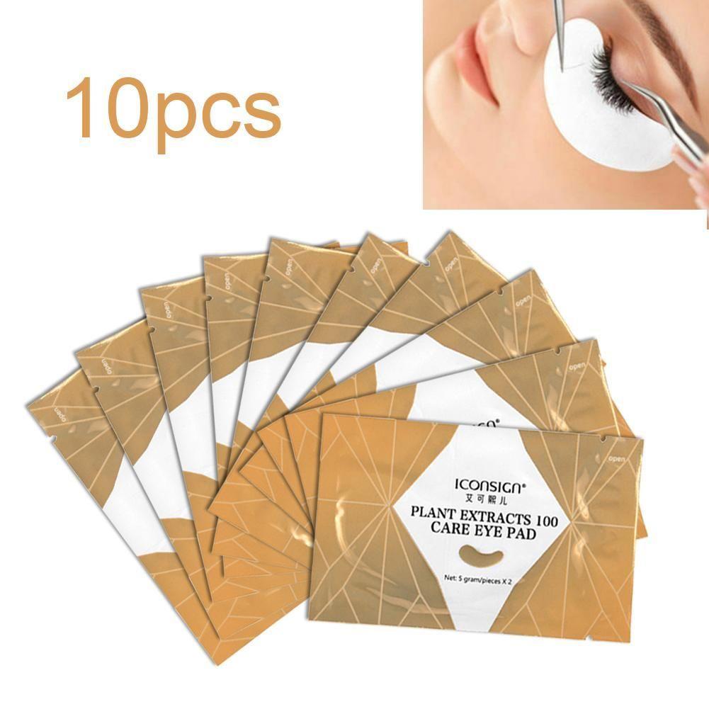 10шт макияжа Тени для век Удлинитель Прививка Передача под Ресницы бумаги изоляционной лентой Наклейки