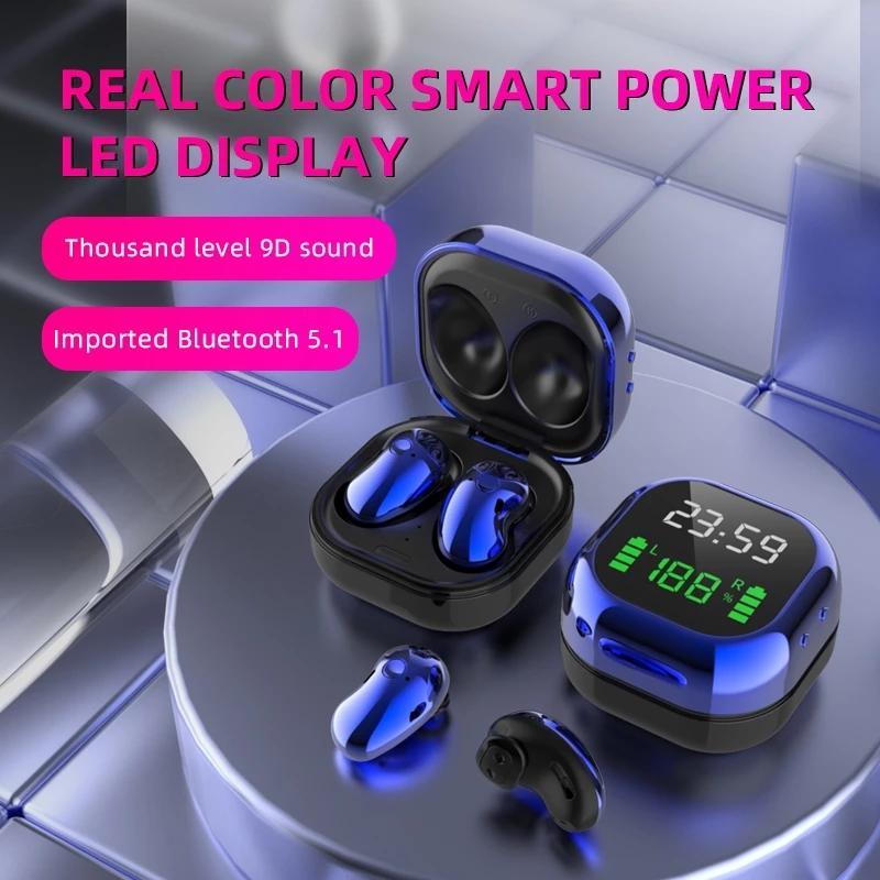 S6 PLUS TWS Правда Беспроводные наушники 8D стерео Bluetooth наушники 5,1 Цифровой дисплей для уменьшения шума водонепроницаемый Earbuds