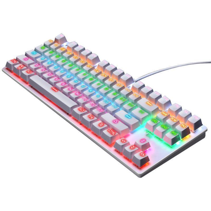 K550 vert arbre mécanique du clavier 87 touches clavier de jeu pour Windows XP / 7/8/10