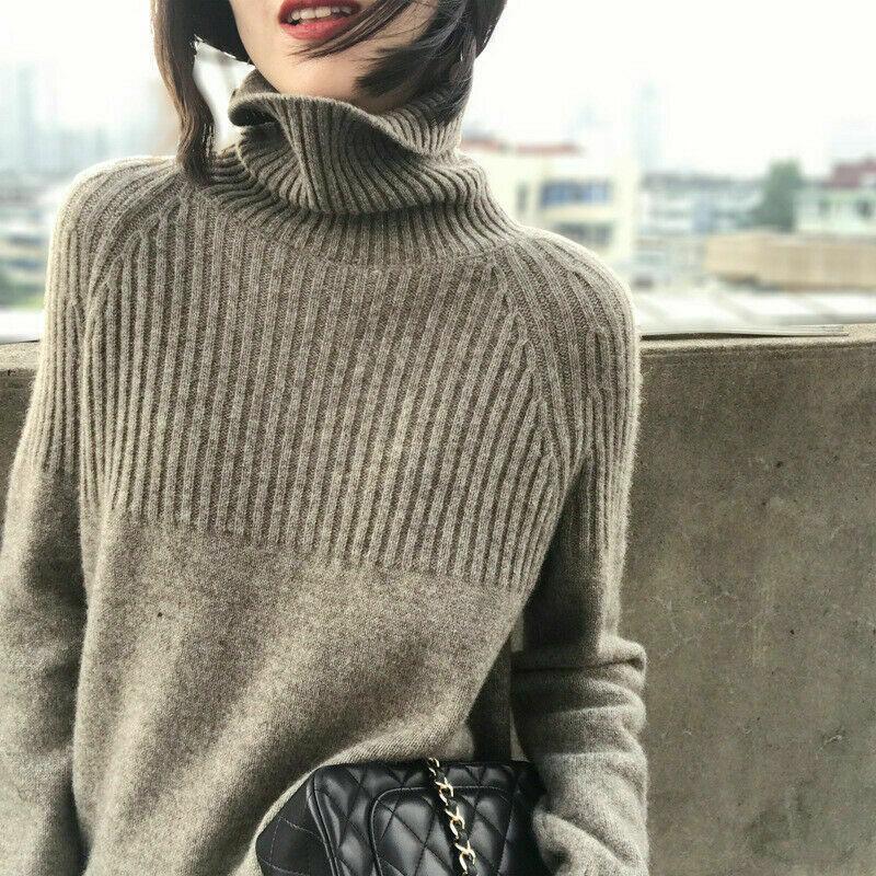 5 컬러 S-XL 여성 캐시미어 스웨터 터틀넥 니트 풀오버 솔리드 따뜻한 여성 스웨터 58294427430358