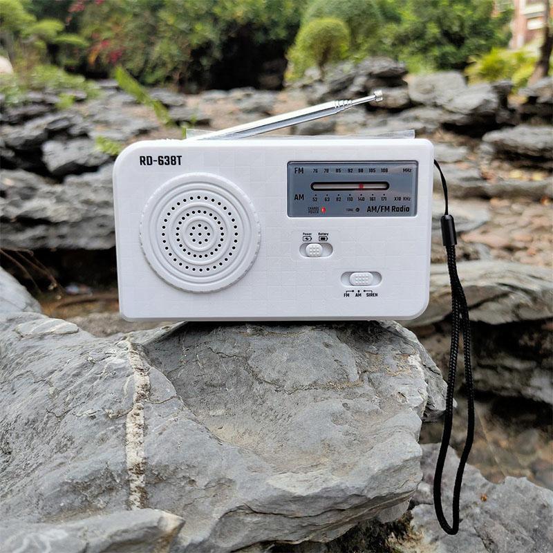 Rádio AM FM Solar Mão Crank Radio emergência com e Built-in de 500 mAh para Smart carregador do telefone