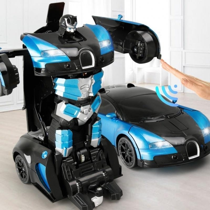 1:14 كبير 2.4 جرام التعريفي تشوه rc سيارات التحول روبوت سيارة لعبة ضوء الكهربائية روبوت نماذج لعب للأطفال هدايا Y200413