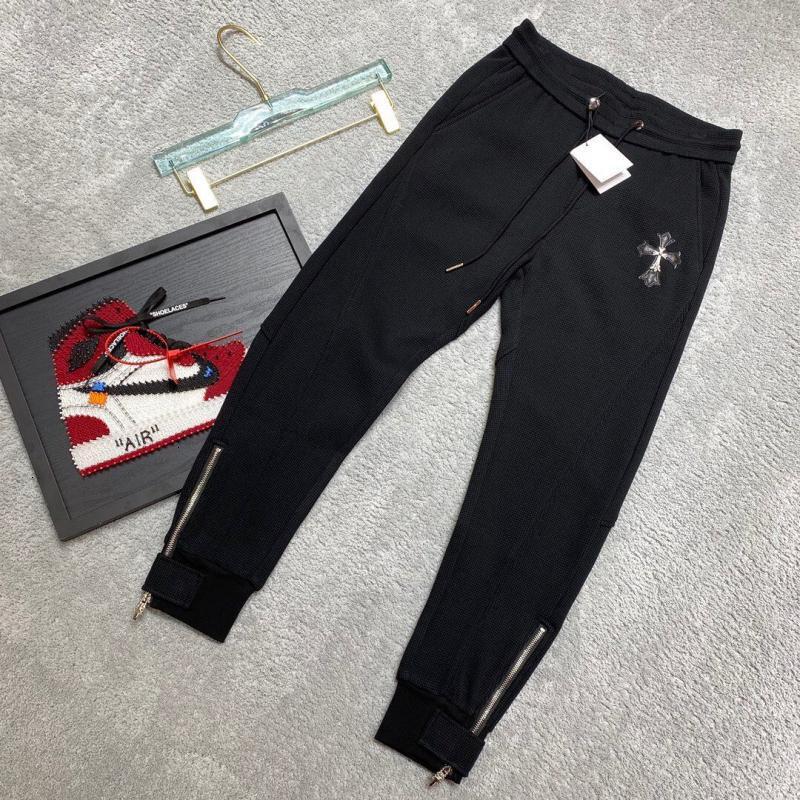 Легкий роскошный высококачественный осенью и зимний кросин осенью и зимние кожаные брюки мужские моды бренда универсальный тонкий дизайн молнии