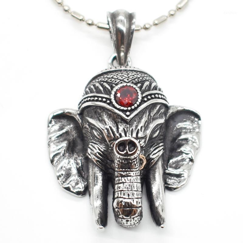Кулон ожерелья амумию слон красный кристалл животных женщин мужчины из нержавеющей стали ожерелье оптом подарки падение рождественских подарков HP2781