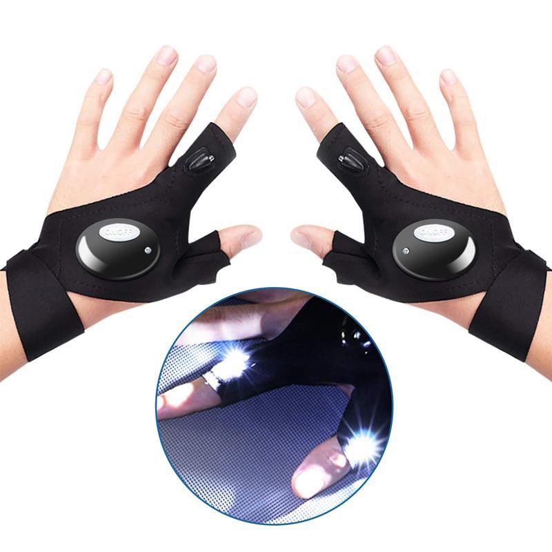 방수 LED 손전등 장갑 밤에 야외 야외 밤 빛을 대체 할 수 있습니다, 핸디맨, 낚시, 실행