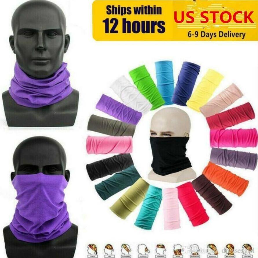 US STOCK Sports de plein air Cyclisme Masque de protection du cou Gaiter Tube Bandana Biker écharpe Magic Head visage Wristband Bonnet Cap FY7026