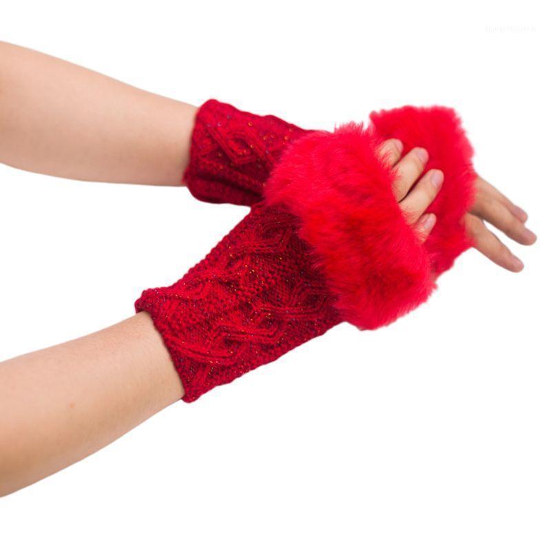 Осень зима женские теплые вязаные длинные перчатки эластичные дикие женские руки Warmer1