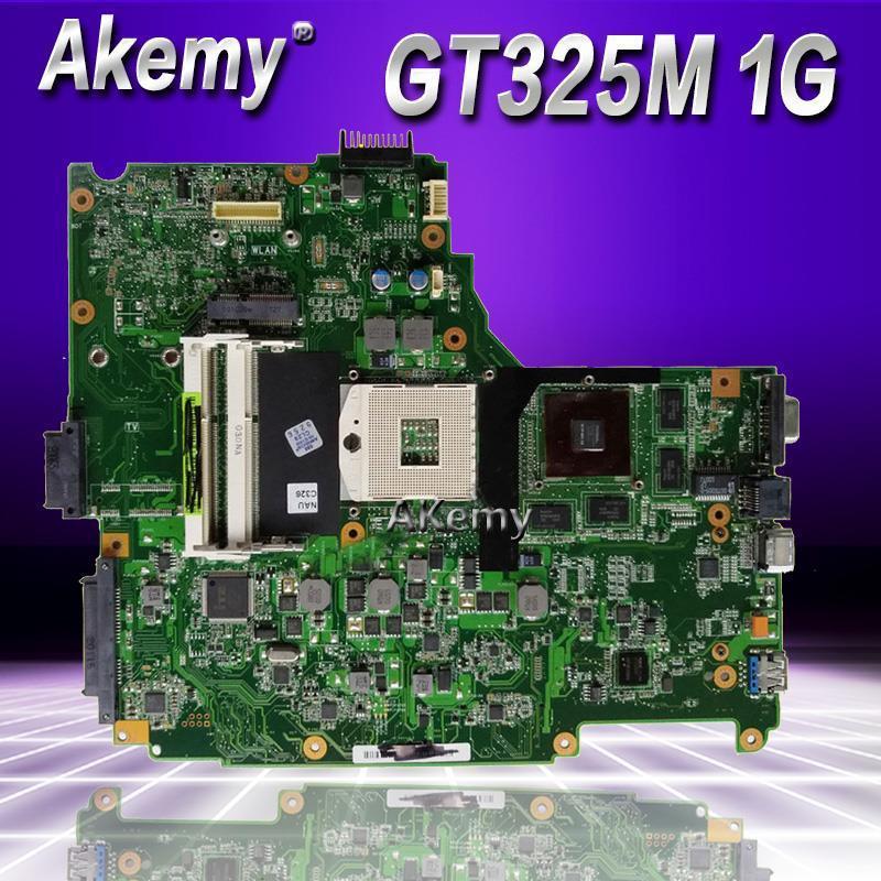 Akemy N61JV Laptop motherboard For Asus N61JV N61J Test original mainboard GT325M 1GB HM55