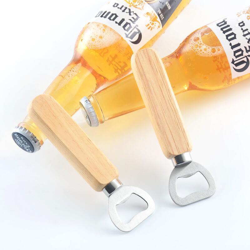 Горячий нержавеющей стали деревянной ручкой Красное вино пиво открывашка бар инструменты инструменты кухни партия подарка венчания LX3541