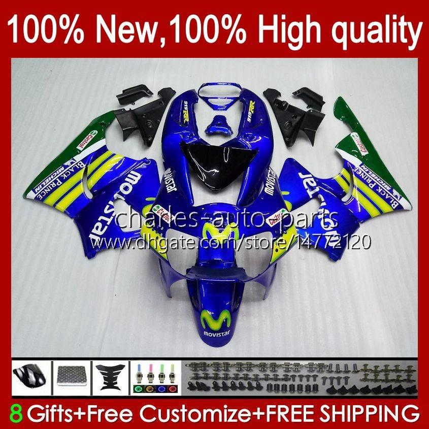 Kropps kit för Honda CBR919 CBR900 RR MOVISTAR BLUE CBR900RR CBR 919RR 900RR 919CC 93HC.14 CBR919RR 98 99 CBR 900 919 CC RR 1998 1999 FAIRING