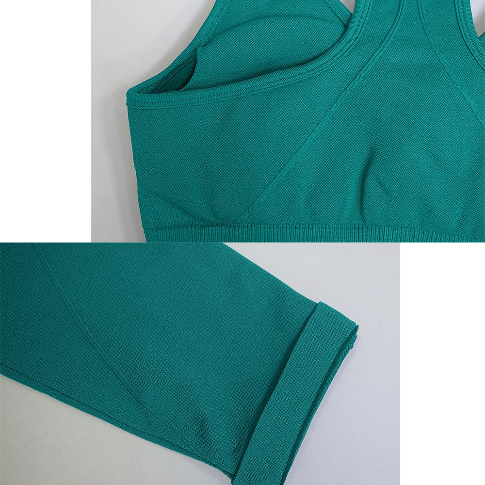 2021Grandwish 2 Parça Dikişsiz Yoga Kıyafet-Yüksek BelBreathablemoisture Wicking4-Way Streç ElasticsPortswear Set Womenzf2