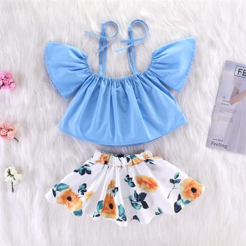 Two Pieces Suit Baby Clothing Camisole Jacket Lemon Kids Printing Short Skirt Woman Clothes Sets Summer 24ty K2