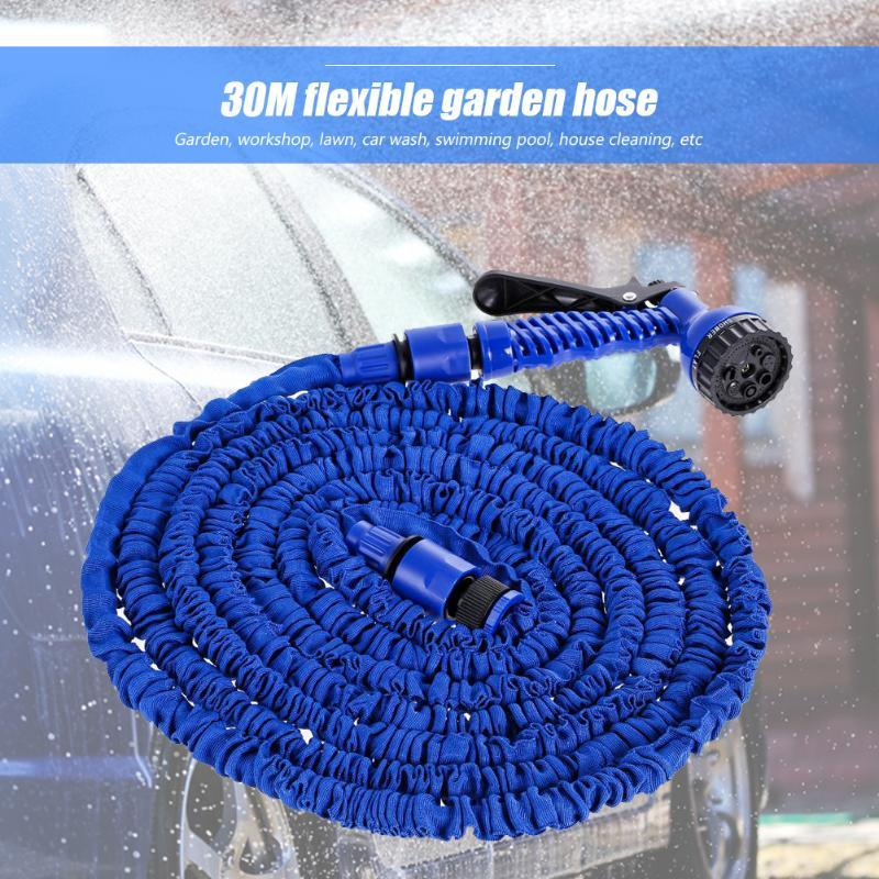 Hot Selling 100FT Garden Hose Expandable Flexible Water Hose Plastic Hoses Pipe With 7-Function Spray Nozzle Kit for Garden