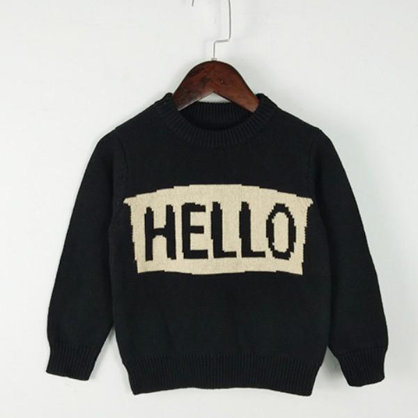 Children Fashion Sweater Spring Autumn Casual Long Sleeve Crew Neck Pullover Boys Girls Baby Unisex Letter Printed Tops New Kids Clothing