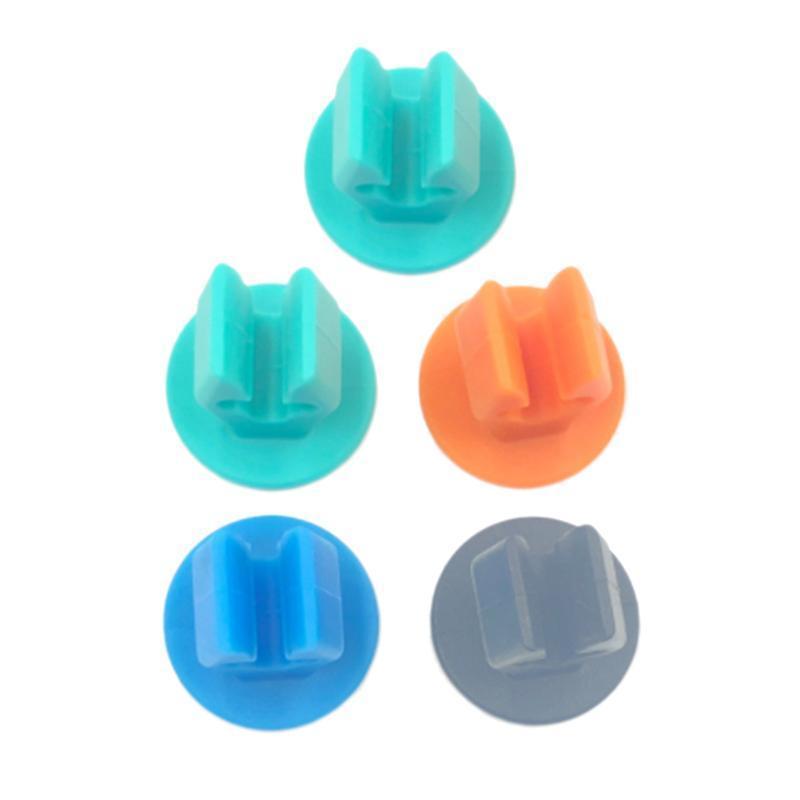 Spazzolino da denti di aspirazione No creativo 5pcs Organizer Bathroom Wall Mounted Cup Holder Foratura rack di stoccaggio qqds qylQfn