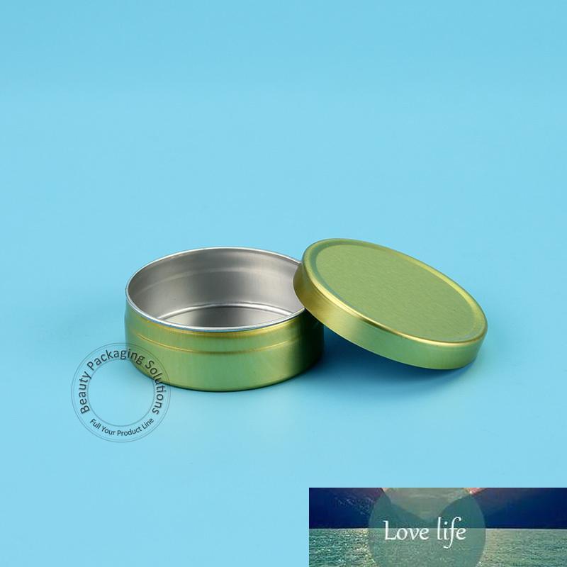 50pcs / Lot Promotion aluminium POMMADIER de femmes Rechargeables cosmétiques d'or Couvercle Mini maquillage Fiole petite bouteille Facial Cream