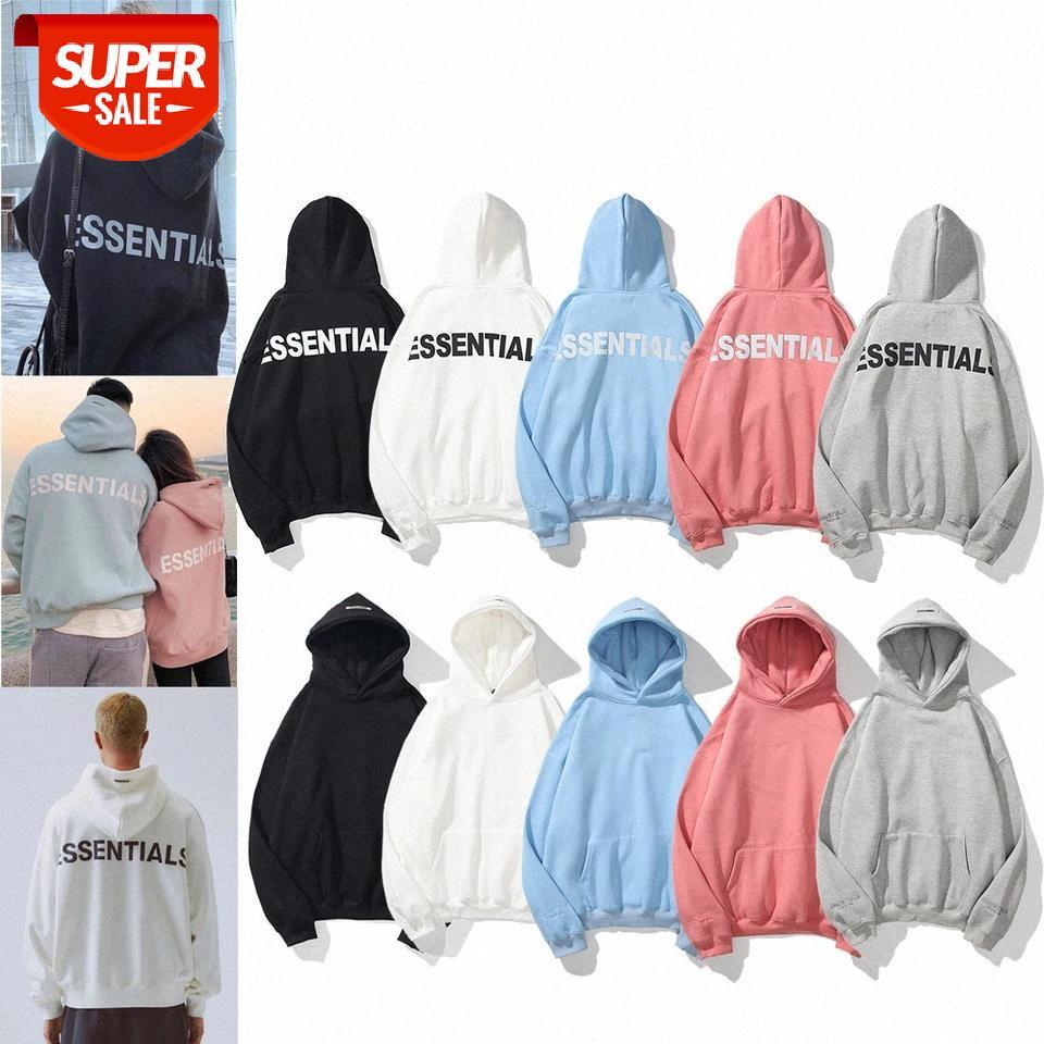New autumn and winter hoodie FOG ESSENTIALS reflective fleece hoodie high street fashion brand clothing cotton hip hop pullover #kG34