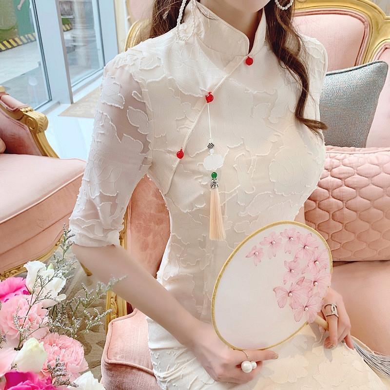 Lomos elegante estilo hip-cubierta delgada atractiva mejorada xUqgp 2020 cheongsam verano 2020 de las mujeres chinas de verano vestido dressCheongsam dressWomen