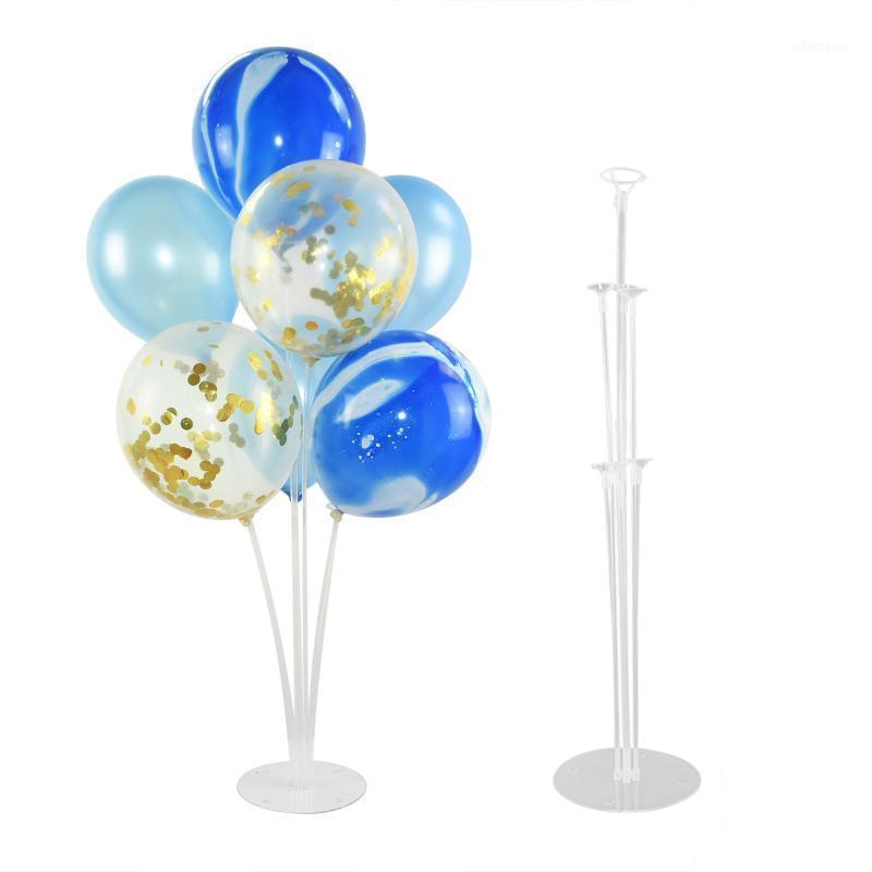 Palloncini supporto palloncino porta colonna base baby shower trasparente plastica palloncino bastone festa di compleanno festa decorazione di nozze fornitures1