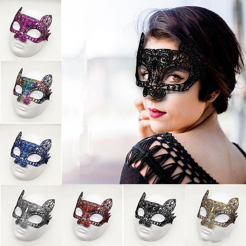2020 39 Masque Halloween Noir Sexy Masque Cosplay dentelle Lady Styles Party Black Party Masquerade Blinder Costume de déguisement Cutout Eye Pro Gudq