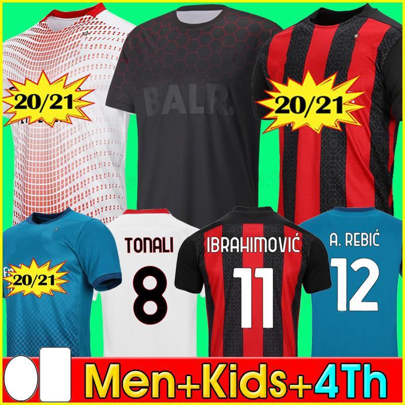 IBRAHIMOVIC THEO MANDZUKIC 20 21 AC milan maglia da calcio LUKAKU LAUTARO inter milan 2020 2021 maglie da calcio shirt set per bambini ERIKSEN TONALI BRAHIM