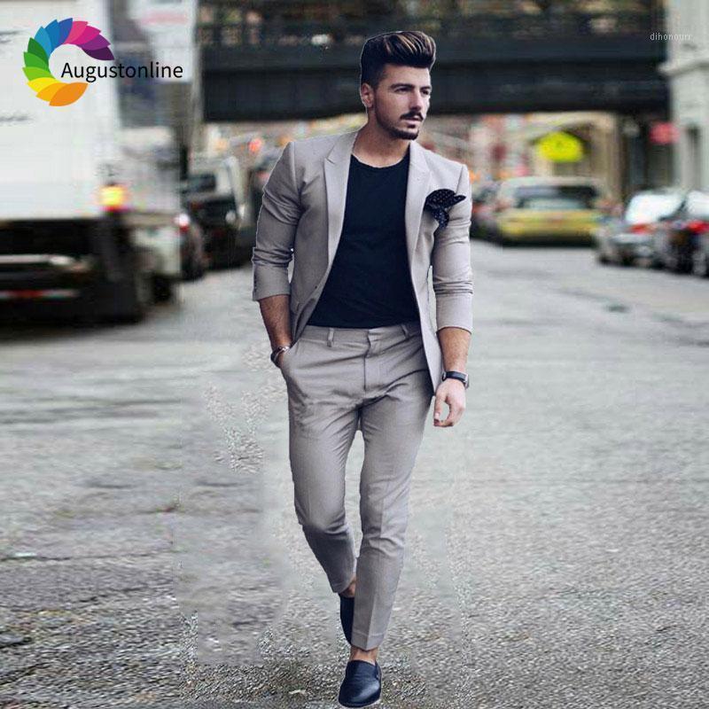 Ultime Designs Grey Men Suit da sposa Blazer Masculino Custom Made Giacker Pants 2 Peaked Bavero Slim fit Groom smoking1