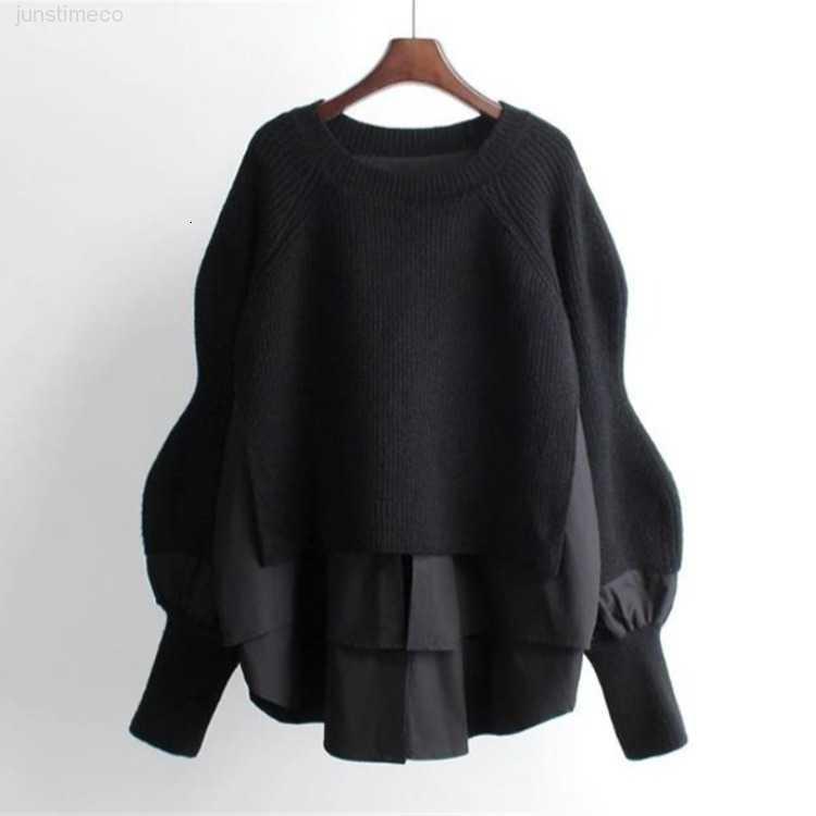и женские трикотажные женские женские осенью весна Новый свободный большой утолщенный ленивый стиль свитер пальто