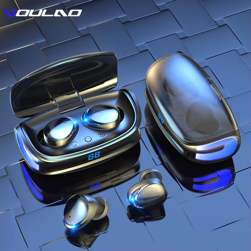 TWS Fones de ouvido sem fio Tipo-C Caixa de carregamento Bluetooth 5.0 fone de ouvido HD Esportes estéreo À Prova D 'Água Earbuds Headsets com Microfone