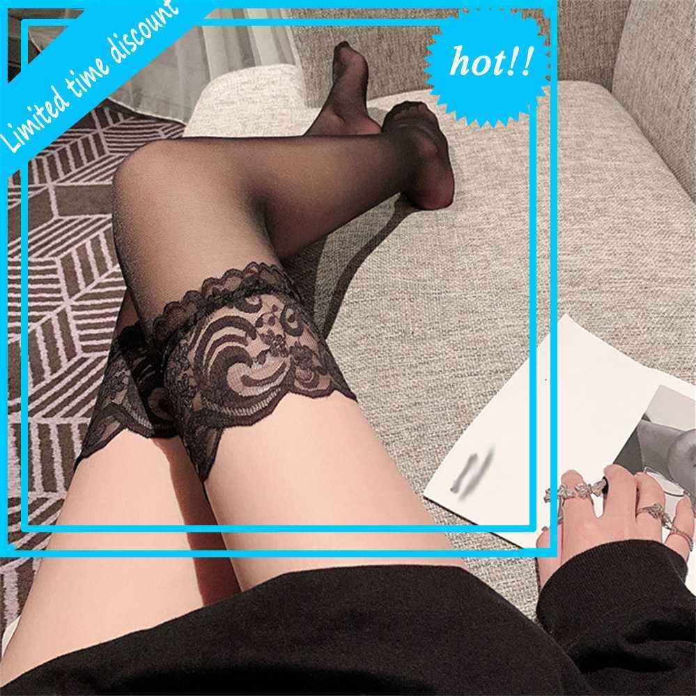 L'automne hong kong girls peut être douce ou sauvage dentelle sexy tube élevé sur le genou Soie Stoiages SOS NET SOS