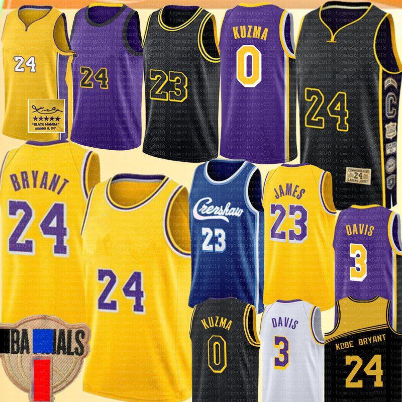 LeBron James 23 Jersey NCAA Anthony Davis 3 Kyle 0 Kuzma Jersey Università 2 4 Bryant Los AngelesLakerspullover di pallacanestro