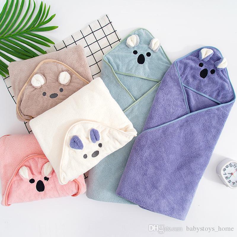 Noworodek Baby Kąpiel Ręcznik Z Kapturem Koce Dziecko Noworodka Aksamitna Swaddle Koc Nakwiaty Ręczniki Dla Dzieci Plażowe Ręczniki Baby Elementy