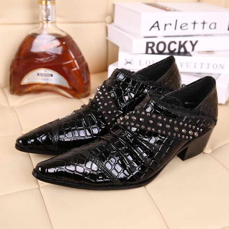 2020 Mens High-Shoes Zapatos Men Toe Suit Broms Brands Oxford Leather Shoes 2FMM
