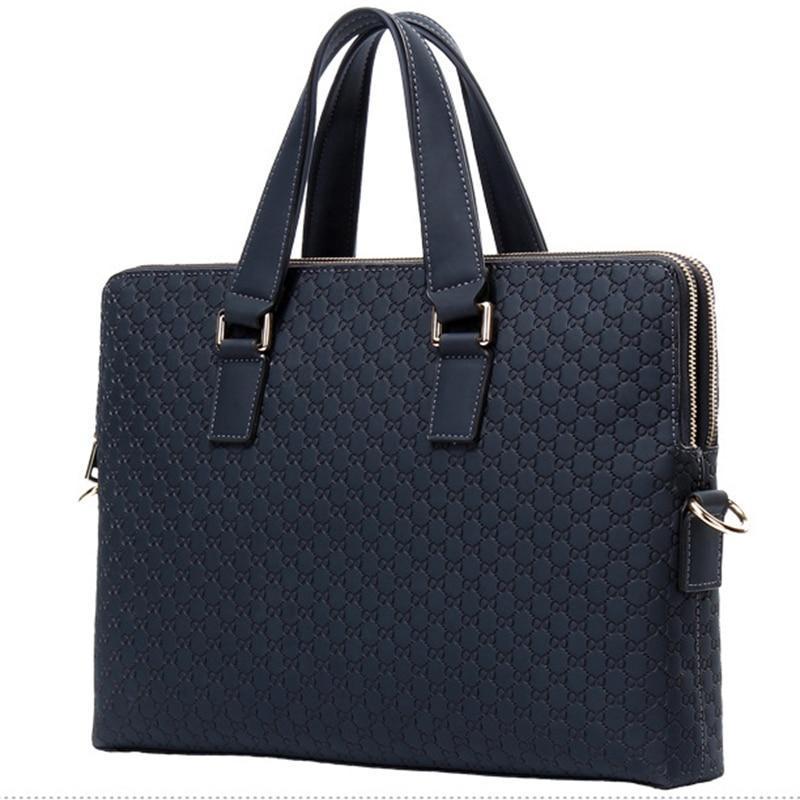 Yeni Çanta Messenger Çanta Marka Hakiki Deri Erkekler 14 inç Laptop Omuz Rahat erkek İş Erkek 2020 Çanta Moda Çanta GCFBE