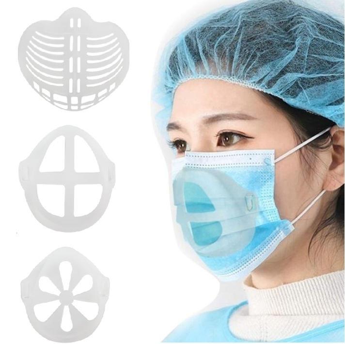 Masque 3D Support adulte Masques enfants endoprothèses PE Masque Porte-Masque Coussin intérieur Support Masques bouche respirant Cadre Valve