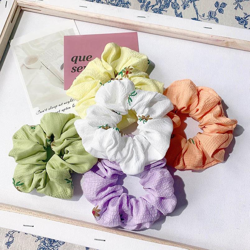 Ins venta caliente niñas Scrunchies mujeres de la flor del pelo de la moda de las mujeres scrunchies vinchas para el cabello accesorios dulces para las bandas de pelo de las mujeres B1807