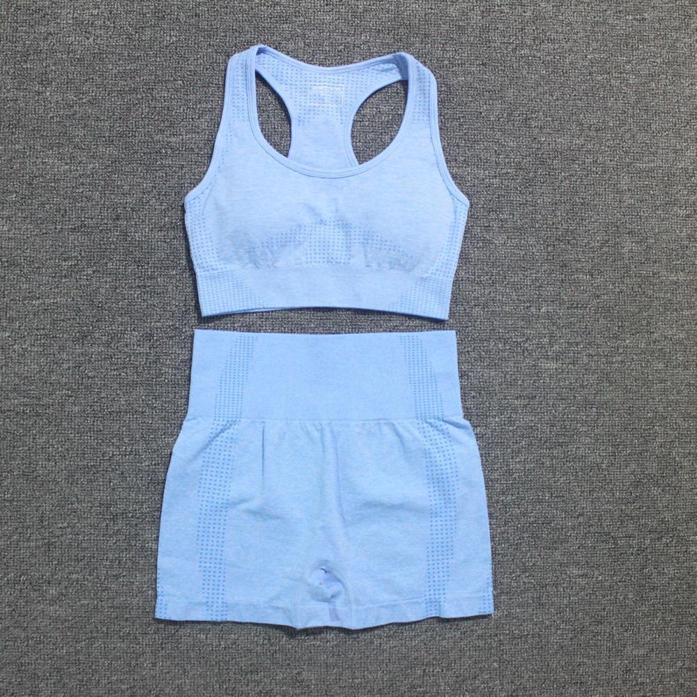Pantaloncini estate donne Vital senza soluzione di Yoga Sport Suits Sport Bra + vita alta Fitness Gym Set in corso sportivo vestiti di allenamento