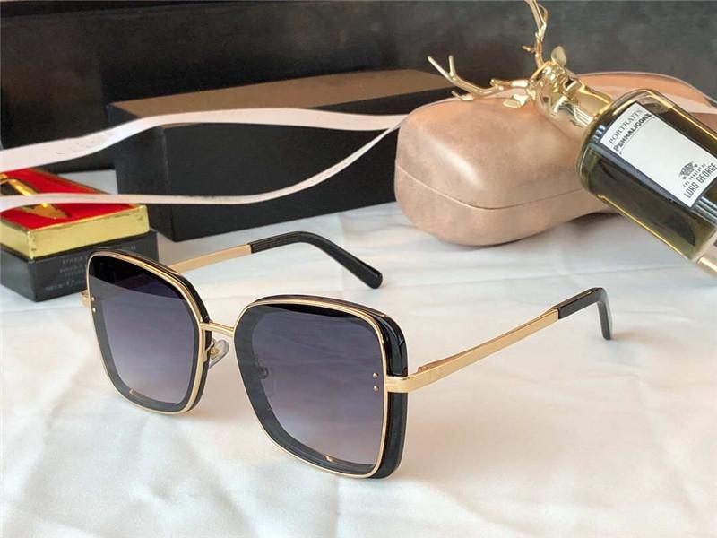 4921 Yeni Kadın Güneş Gözlüğü Büyük Çerçeve Metal Tapınak Plaka Tam Çerçeve Gözlük Büyüleyici ve Zarif Stil Anti UV400 Gözlük Rahat Gözlük