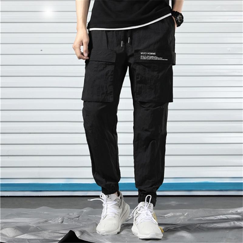 Frühlings- und Sommer-Bindung Füße Nine Hosen Große Größe Herrenhose High-End-Mode-Jeans-Jungen mit lockeren geraden Zylinderhose