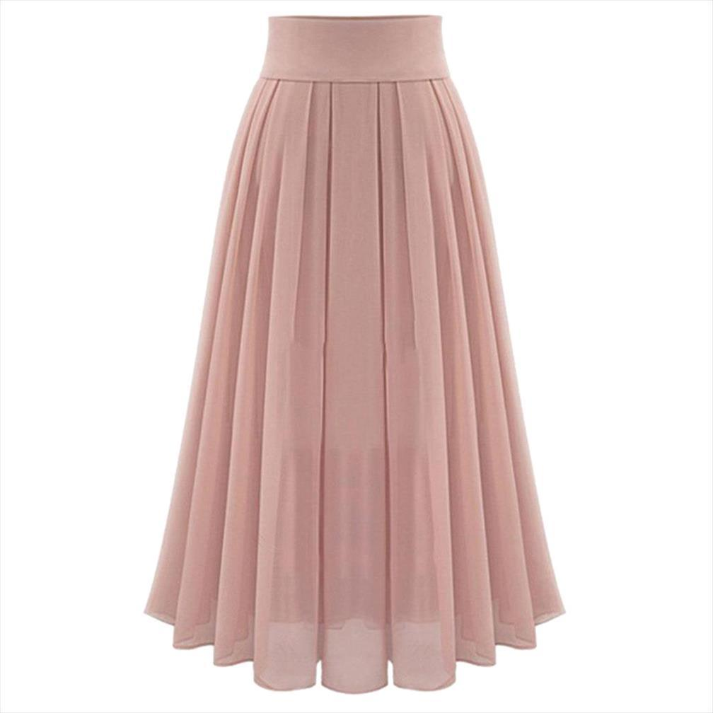 Summer Skirts Womens Sexy Party Chiffion High Waist Lace Up Hip Long Pleated Tulle Party Casual Skirt Jupe Femme
