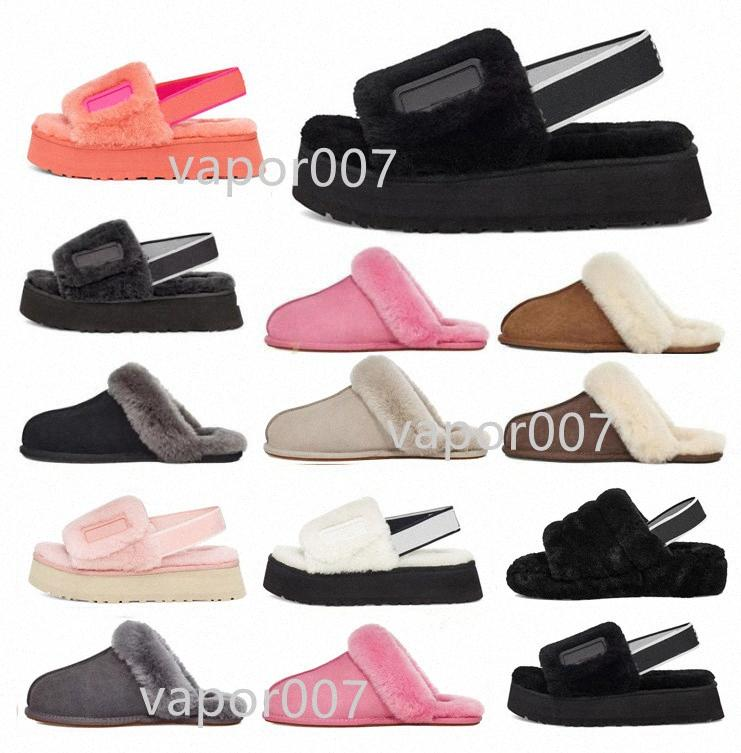 Con scatola 2021 Designer Snow Scuffette Disco Dco Checker II Donne Classic Slide Shoes Womens Girl Lady Inverno 35-42 H6ME #