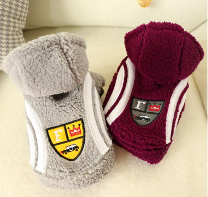 Pet dog cat new clothes car lamb jacket Teddy keep warm free shipping