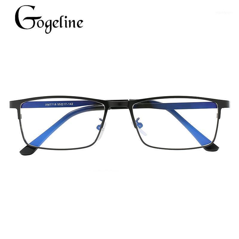 GOGELINE ANTI-BLUE LIGHT GOBALLES PARA MUJERES HOMBRES NUEVOS NEGOCIOS UV400 EyeGlasses óptico Metal Frame1