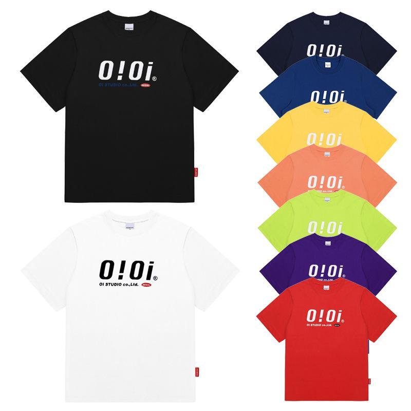 Weibliche oioi kurzärmlige einfache stil paar runde hals lose halbärsiges 5252 t-shirt casual top
