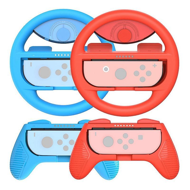 Aderência e roda para o interruptor Controladores Joy-Con Acessórios Grip Kit Case para Handle Mudar Game Console